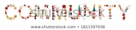 Natal comunidade grupo diverso pessoas Foto stock © Lightsource
