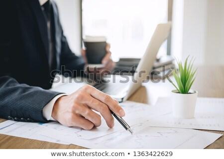 Könyvelő pénzügyi adat sikeres adó irodai asztal Stock fotó © AndreyPopov