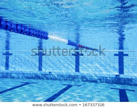 Yüzme havuzu su sualtı doku spor çapraz Stok fotoğraf © cookelma