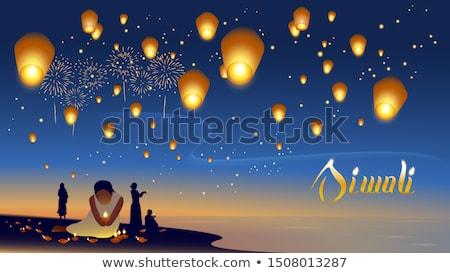 Vuurwerk nachtelijke hemel sterren vakantie festival Stockfoto © robuart
