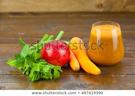 Verde saudável aipo suco de maçã artigos de vidro vegetal Foto stock © vkstudio