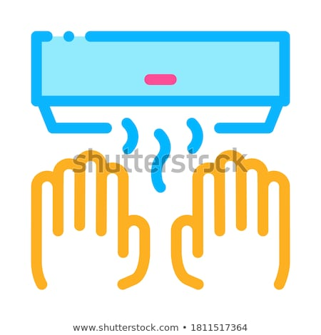 Hand Drying Air Wipe Icon Outline Illustration Stock photo © pikepicture