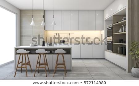 Cozinha quarto interior utensílios de cozinha interior da cozinha Foto stock © robuart