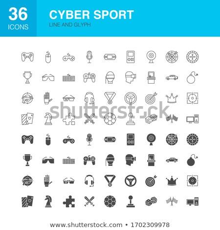Cyber Sport Line Web Glyph Icons Stock photo © Anna_leni