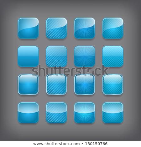 Mavi uygulaması ikon düğme şablon gölge Stok fotoğraf © kyryloff