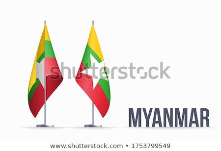 Myanmar flag, vector illustration on a white background Stock photo © butenkow