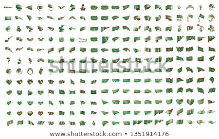 very big collection of vector flags of the Mauritania Stock photo © butenkow
