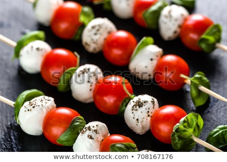 cherry tomato skewers Stock photo © zkruger