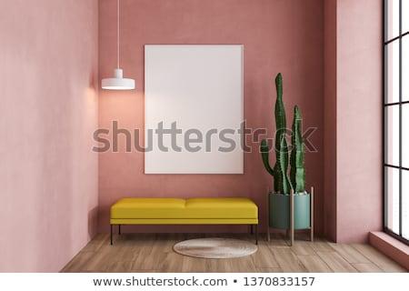 Pink sofa detail stock photo © jordygraph