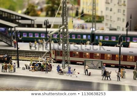 modello · stazione · ferroviaria · britannico · rurale · frazione · poco · profondo - foto d'archivio © paha_l