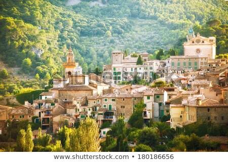 Valldemossa from Majorca view in Tramontana Stock photo © lunamarina