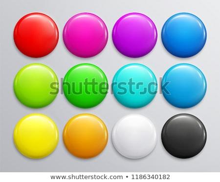 Plastikowe przycisk błyszczący czarny jasne Zdjęcia stock © kraska