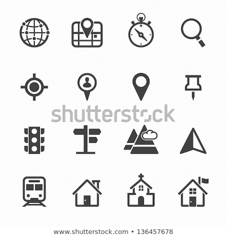 compass and map icons stock photo © dayzeren