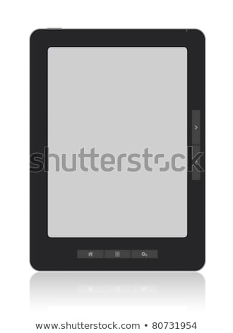 Portable E-Book Reader with Clipping path Stock photo © bloomua