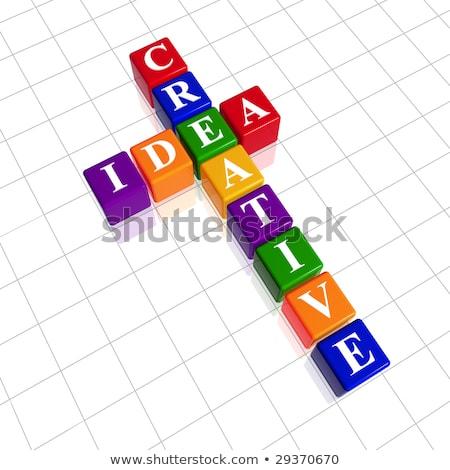 golden creative idea like crossword Stock photo © marinini