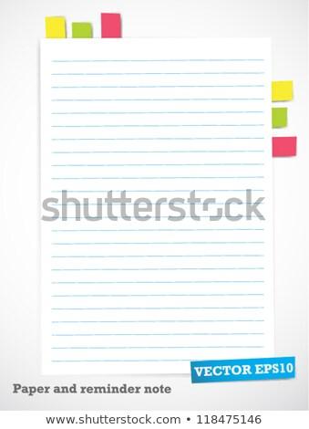 ノートブック ブックマーク ブックマーク カラフル 紙 教育 ストックフォト © illustrart