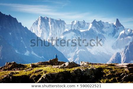 Mountain Mont-Blanc and sky blue and rockk Stock photo © mariephoto