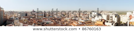 Panoramic photo of old part of Madrid, Capitol of Spain. View fr Stock photo © HASLOO