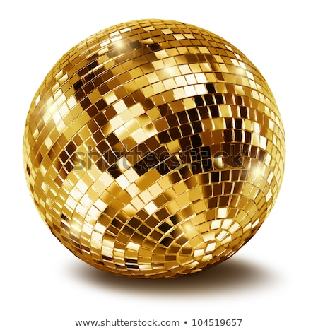 Stock photo: golden disco mirror ball
