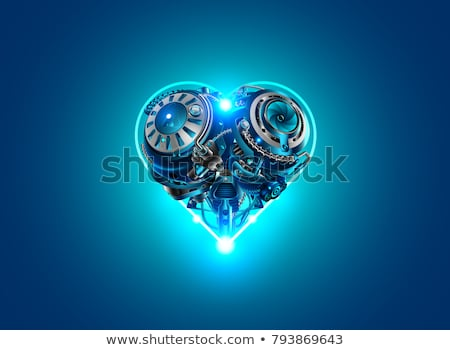 Mechanical light Valentine heart Stock photo © Elmiko