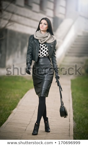 Female outdoors person looking sideways Stock photo © Maridav