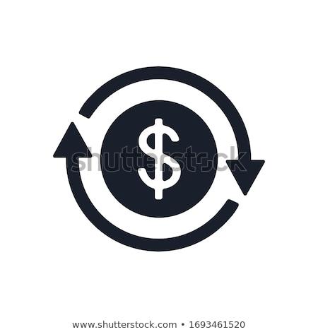 Dollar pijl business achtergrond witte cash Stockfoto © Paha_L