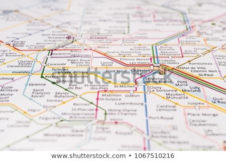Париж метро старые арт нуво знак быстрый Сток-фото © Stocksnapper
