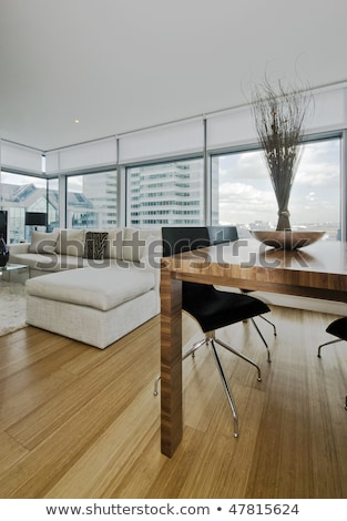 Stock photo: Contemporary bamboo sofa seating area