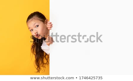 femme · cacher · belle · femme · longtemps · rose - photo stock © photography33