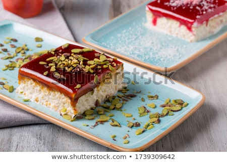 Semolina pudding with homemade jelly stock photo © brebca