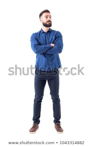 ボディーガード · 入れ墨 · ポーズ · 折られた · 腕 · 見える - ストックフォト © stockyimages