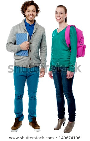 full length snap shot of cheerful classmates stock photo © stockyimages