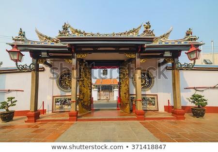 中国語 · 仏教 · 寺 · インテリア · サスペンション · 赤 - ストックフォト © smithore