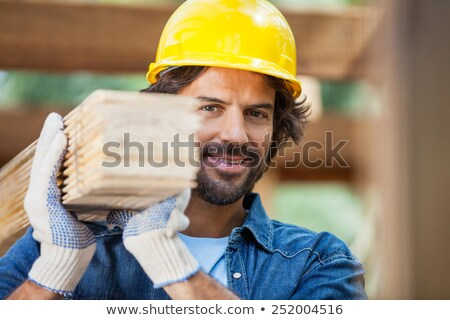 Construction worker carrying plywood Stock photo © photography33