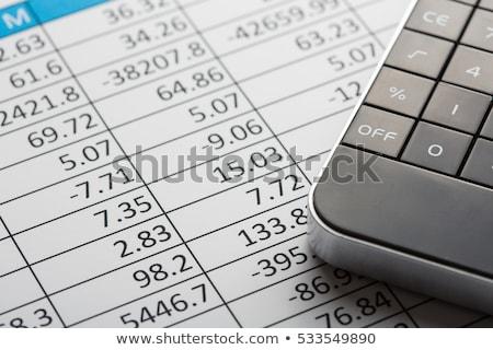 zysk · strata · wykres · wykres · papieru · działalności - zdjęcia stock © danielgilbey