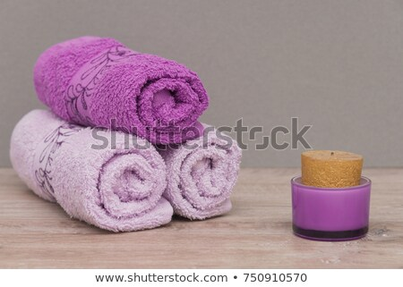 White towels and stones next to each other. Stock photo © justinb