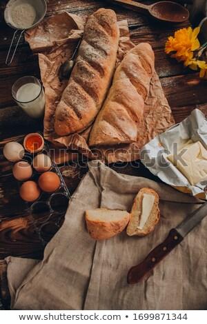cereales · baguette · baguettes · rústico · madera · fondo - foto stock © bbbar