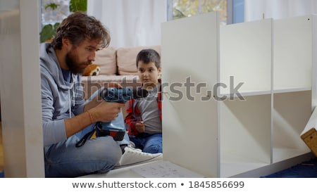 Montage of little boy playing at home Stock photo © photography33