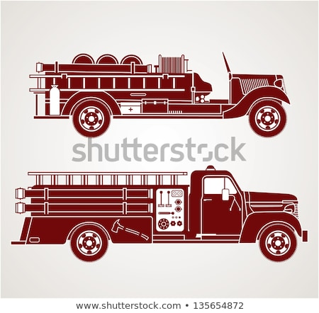 Velho vintage carro de bombeiros pormenor serviço máquina Foto stock © premiere
