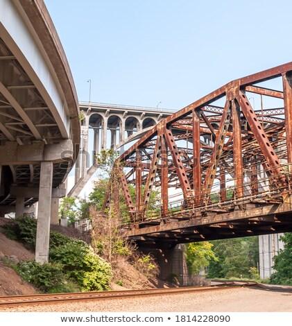 Ferrovia ponte ver aço alto linha Foto stock © searagen