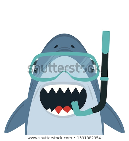Divertente squalo pesce natura sfondo denti Foto d'archivio © dagadu