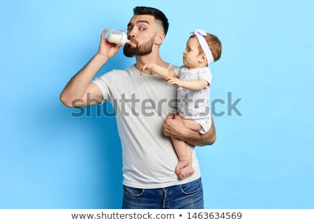 Young man and funny girl. Isolated stock photo © acidgrey