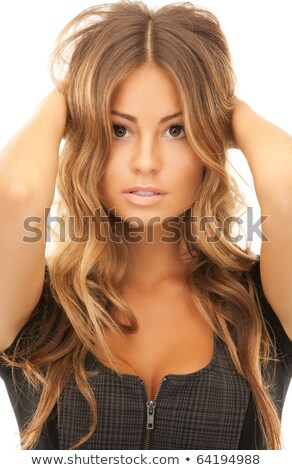 alluring blond with hair style Stock photo © carlodapino