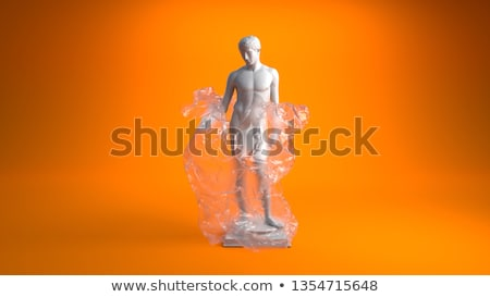 An old plastic statue of a man Stock photo © michaklootwijk