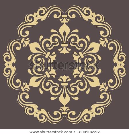 Modèle cercle fleur résumé design Photo stock © bartmart