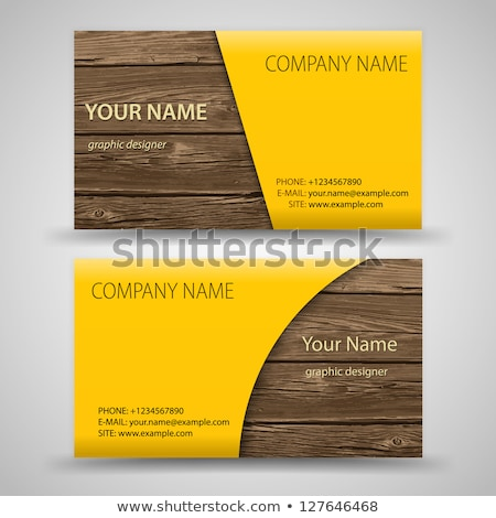 Egyszerű modern névjegyek arany ezüst víz Stock fotó © vitek38