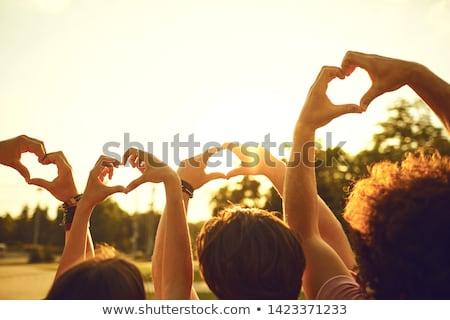 символический · сердце · песок · можете · используемый · морем - Сток-фото © iko