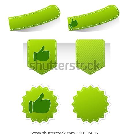 Legjobb választás hüvelykujj felfelé felirat retro címke Stock fotó © marinini