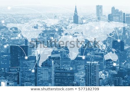 3D · business · terra · grafico · a · barre · oro · arrow - foto d'archivio © 4designersart