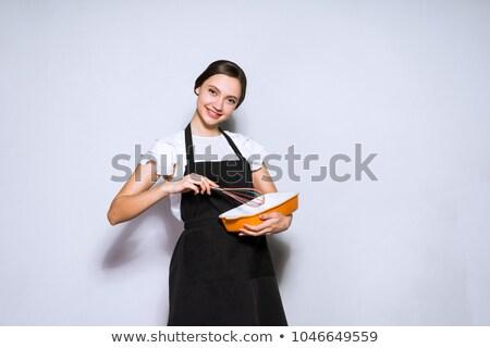 güzel · bir · kadın · genç · askeri · elbise · yalıtılmış - stok fotoğraf © acidgrey